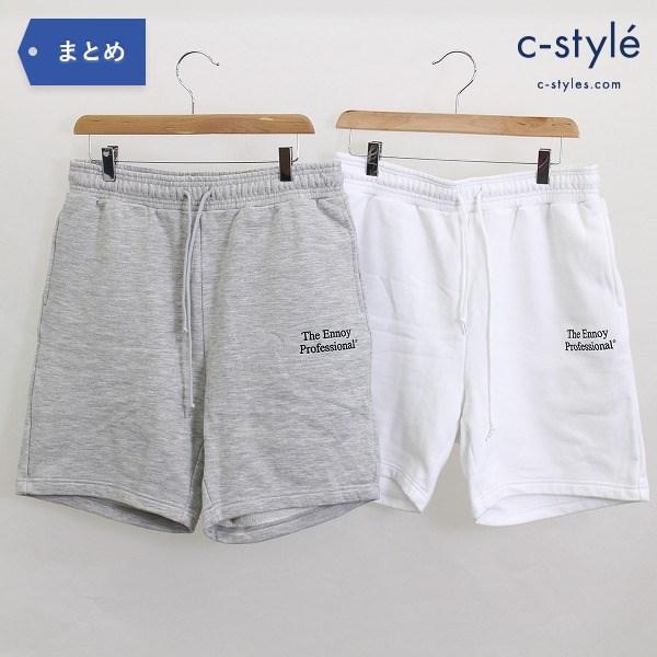 The Ennoy Professional エンノイ スウェット ショート パンツ sizeL 2点 グレー ホワイト