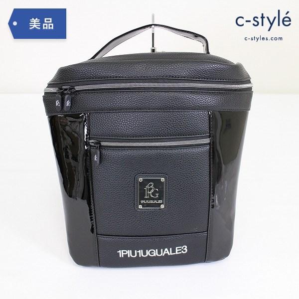 1PIU1UGUALE3 GOLF ウノピゥウノウグァーレトレ ゴルフ シューズバッグ ロゴ刺繍 ブラック 鞄
