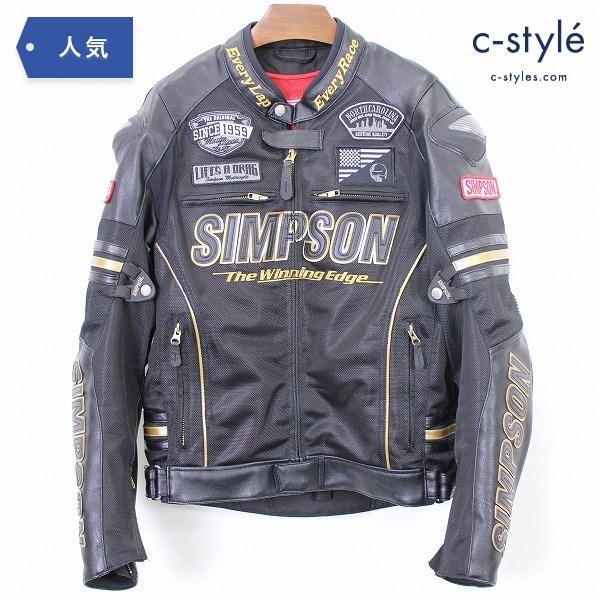 SIMPSON シンプソン プレミアム メッシュ ジャケット L プロテクター入り ライダース バイク