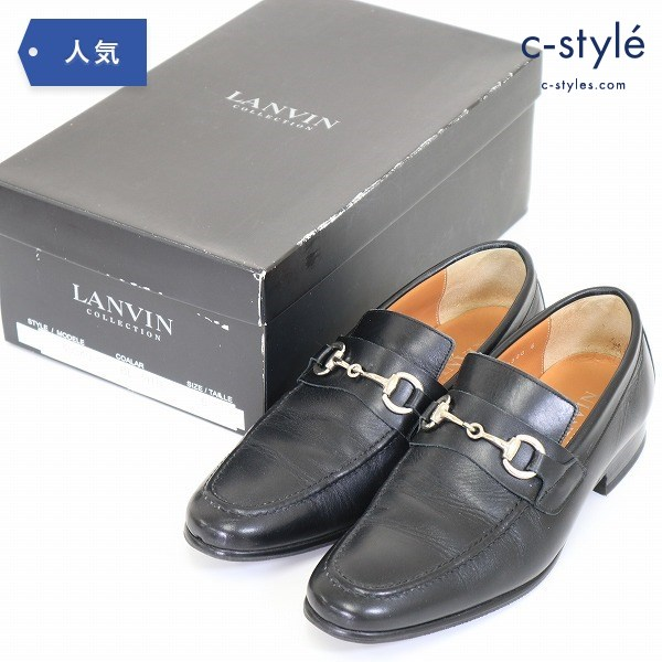 LANVIN Collection ランバン コレクション 革靴 サイズ6 24.5cm~25cm ビブラム レザー 黒