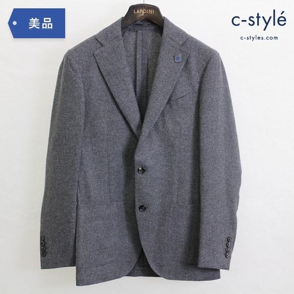 LARDINI ラルディーニ カシミヤ 100% テーラード ジャケット size44 グレー サイドベンツ