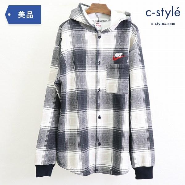 Supreme × NIKE Plaid Hooded Sweatshirt プレイド フーデット スウェット シャツ L コート