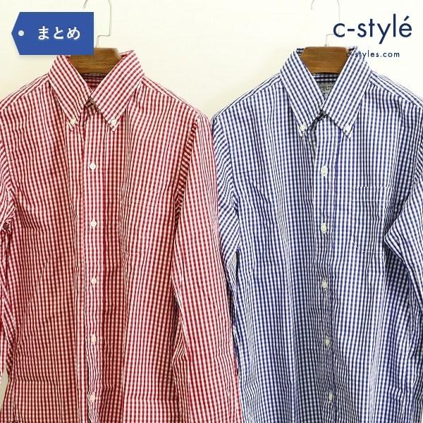 INDIVIDUALIZED SHIRTS インディビジュアライズド シャツ size15 2点 ボタンダウンシャツ 長袖