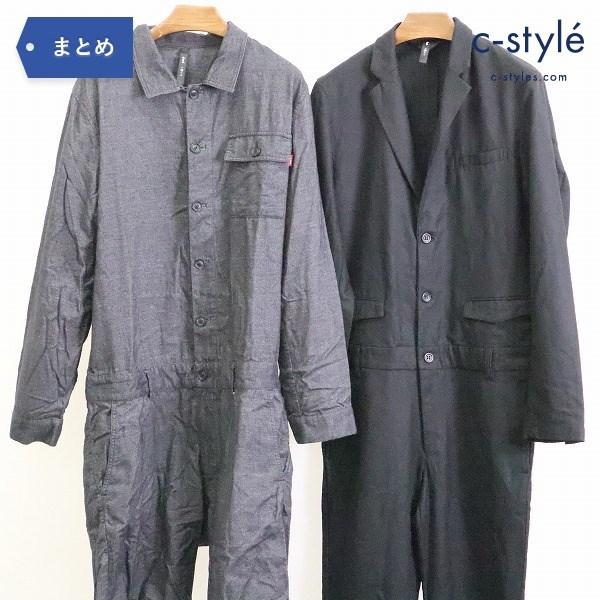 glamb グラム ジャンプスーツ オールインワン size2 2点 無地 ブラック つなぎ オーバーオール