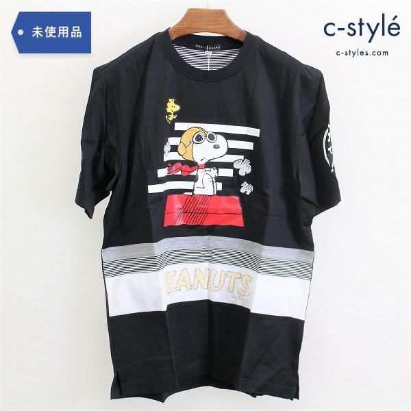 CASTELBAJAC カステルバジャック スヌーピー 半袖シャツ Tシャツ size48 ブラック