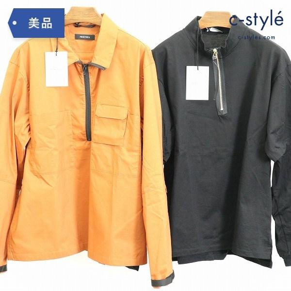 PORTVEL ポートヴェル プルオーバーシャツ ジップアップtee size 2 2点 カットソー ハーフジップ
