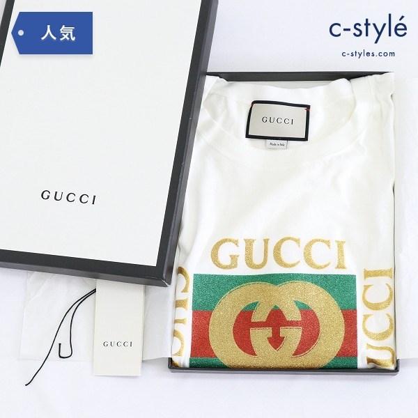 GUCCI グッチ 17AW オールド ヴィンテージ グリック ロゴ Tシャツ XS 半袖