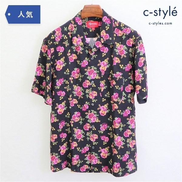 Supreme シュプリーム 20SS Floral Rayon シャツ Sサイズ オープンカラー 半袖 レーヨン