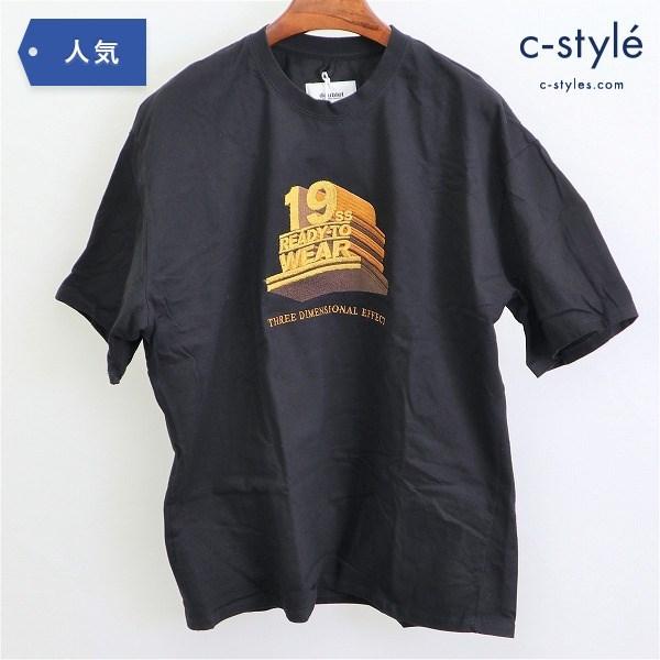 doublet ダブレット 19SS 3D EMBROIDERY Tシャツ M 半袖 コットン ブラック