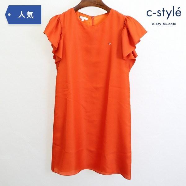 GUCCI グッチ キッズ シルク混 フリル ワンピース 12才 オレンジ ドレス イタリア製 女の子