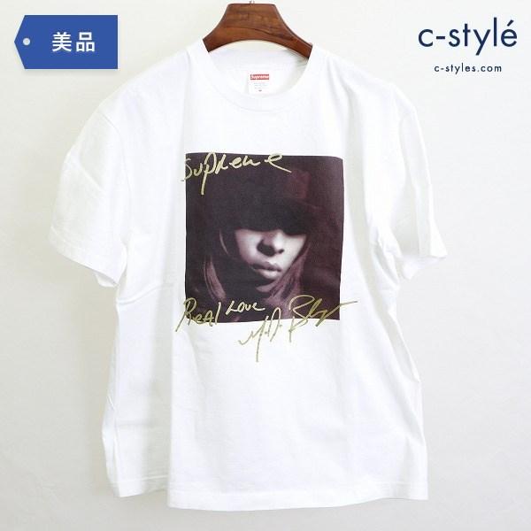 Supreme シュプリーム MaryJ Real Love Tシャツ サイズM 半袖 ホワイト プリント ストリート