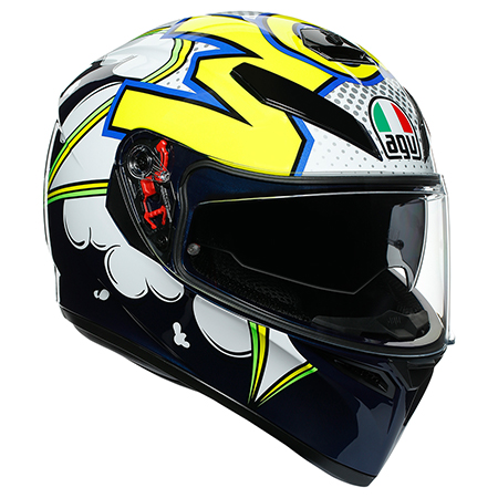 AGV(エージーブイ) K-3 SV MPLK 007-BUBBLE BLUE/WH/YELLOW FLUO