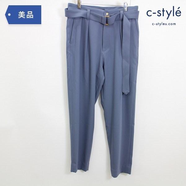 CULLNI クルニ 21SS ベルト タック スラックス パンツ size1 テーパード ブルー