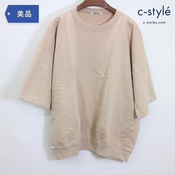 AURALEE オーラリー 19SS スーパーハイゲージ スウェット ビッグ Tシャツ size5