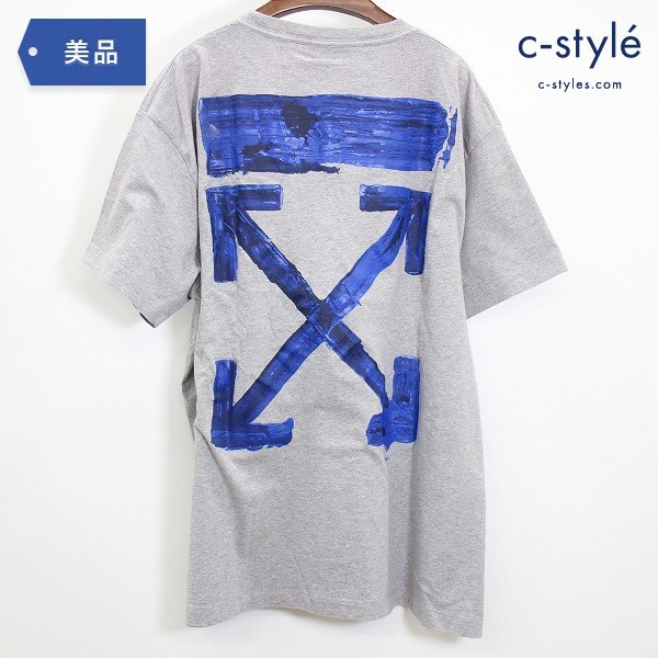 OFF-WHITE オフホワイト ACRYLIC ARROWS S/S OVER TEE size XS Tシャツ 半袖 グレー カットソー