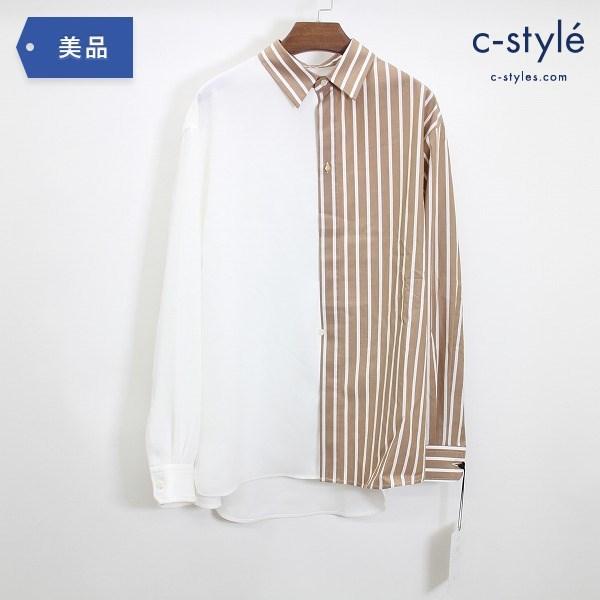 CULLNI クルニ 21SS ブロッキング ストライプ シャツ size1 長袖 異素材