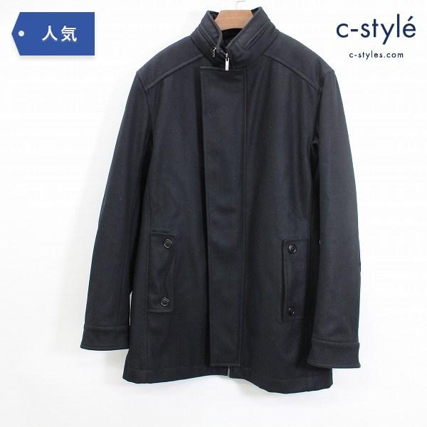 Salvatore Ferragamo サルヴァトーレ フェラガモ カシミヤ ウール コート size50 中綿入り 黒