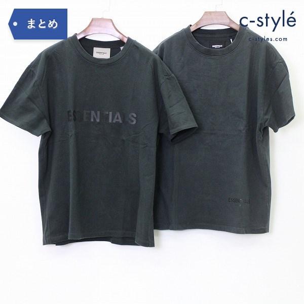 FOG ESSENTIALS エッセンシャルズ 半袖 Tシャツ XS 2点 ロゴ オーバーサイズ ブラック Uネック