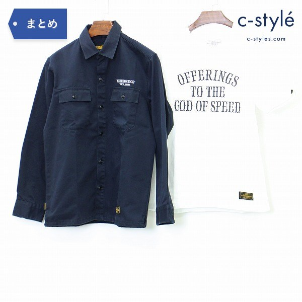 Neighborhood ネイバーフッド 長袖 シャツ S + プリント 半袖 Tシャツ M コットン 日本製