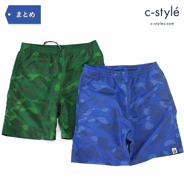 A BATHING APE アベイシングエイプ COLOR CAMO BEACH PANTS サイズ S 2点 ショート パンツ