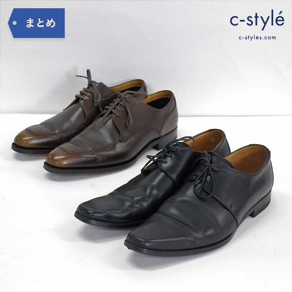 JOHNSTON & MURPHY ビジネス シューズ size7 25.5cm レザー ブラウン ブラック 革靴 日本製