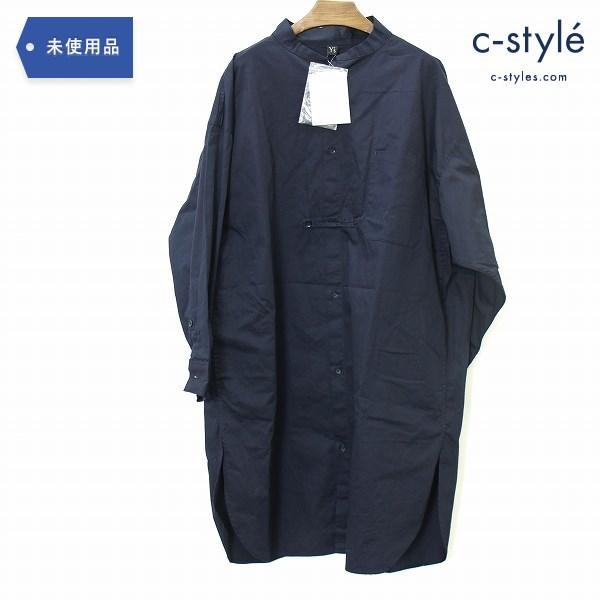 Y's ワイズ シャツ ワンピース size1 オーバーサイズ ネイビー ヨウジヤマモト