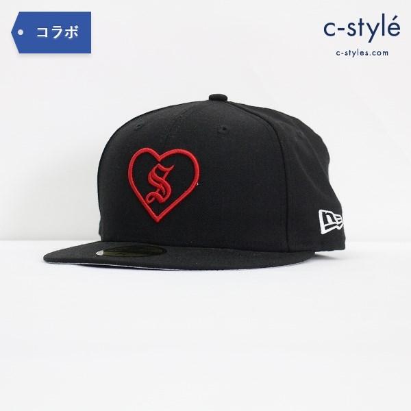 Supreme シュプリーム × NEW ERA ニューエラ 2017 HEART パネル キャップ 57.7cm 7 1/4 黒