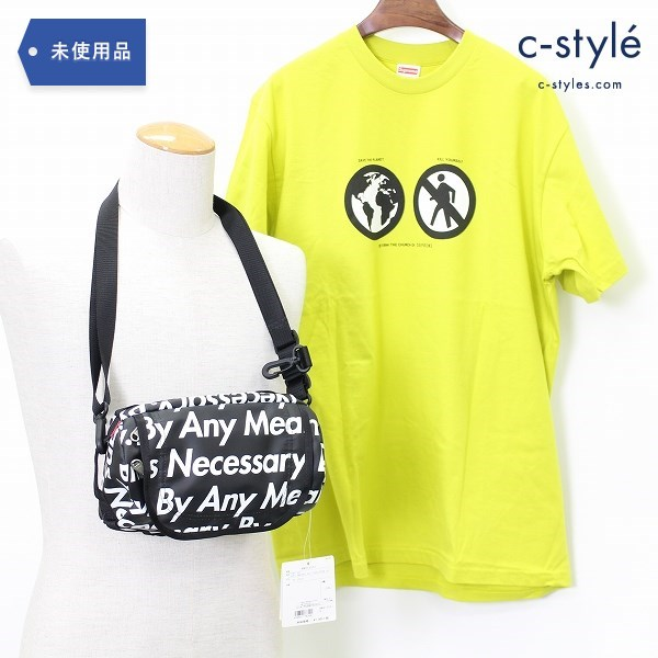 Supreme シュプリーム Save the Planet Tシャツ L + THE NORTH FACE コラボ ショルダー バッグ