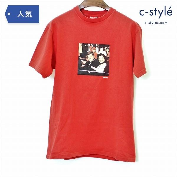 Supreme シュプリーム 08AW JFK ケネディ フォト Tシャツ Mサイズ 半袖 レッド プリント