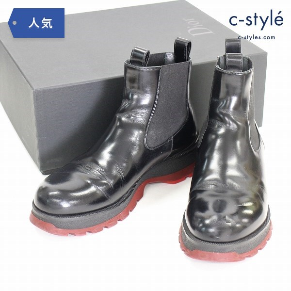 Dior HOMME ディオールオム 16AW Ankle Boots アンクル ブーツ size40 サイドゴア レザー 靴