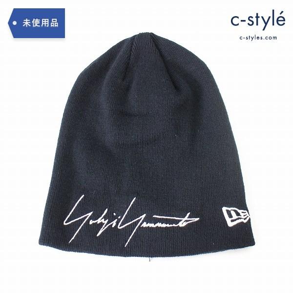 Yohji Yamamoto POUR HOMME ヨウジヤマモト × NEW ERA ニューエラ ニット帽 ロゴ ビーニー 綿