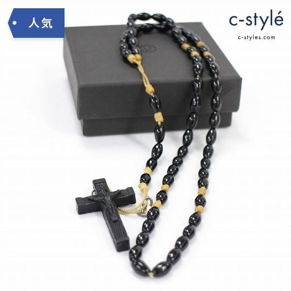 UNDERCOVER アンダーカバー クロス ビーズ ネックレス 十字架 キリスト ロザリオ ブラック