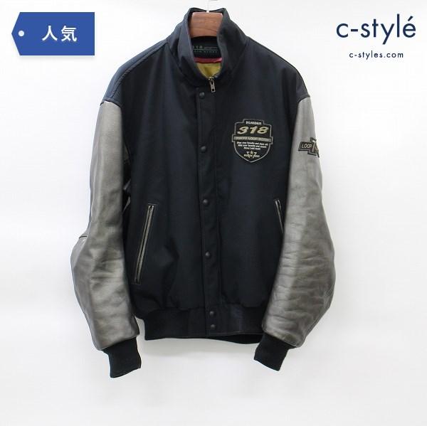 PAIR SLOPE ペアスロープ スタジャン レザー 切り替え ブルゾン ジャケット 日本製