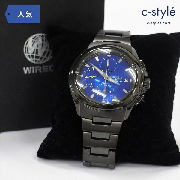 WIRED ワイアード AGAV054 コスモロジー 腕時計 ステンレス クォーツ ブラック