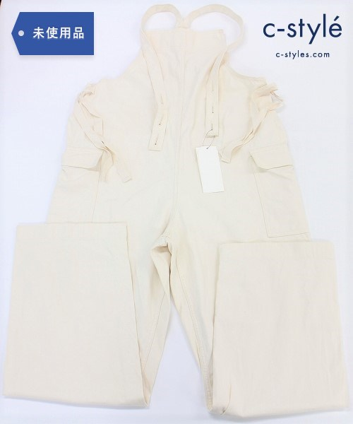 UNUSED アンユーズド オーバーオール size3 コットン オフホワイト 日本製