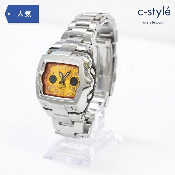 CASIO カシオ ジーショック G-SHOCK G-011AD クロノグラフ スクエア 腕時計 ウォッチ シルバー