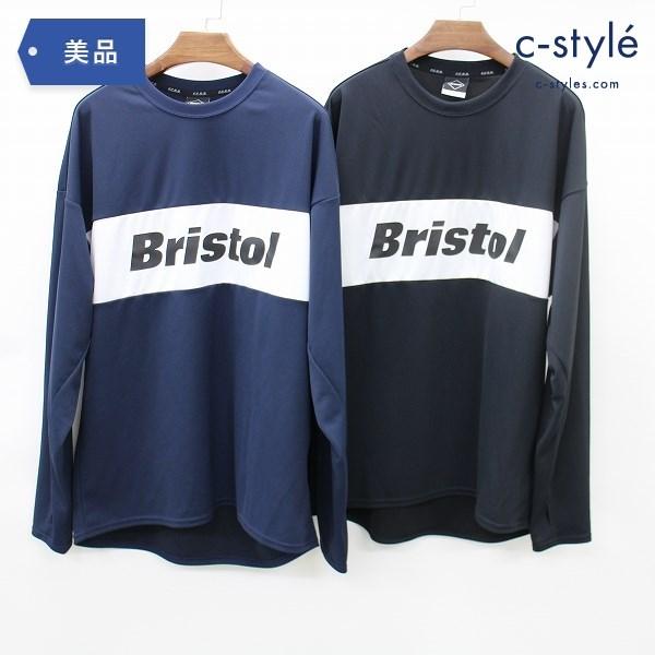 F.C.Real Bristol エフシーレアルブリストル FCRB Tシャツ XL 2点 長袖 ブラック ネイビー メッシュ トレーニング