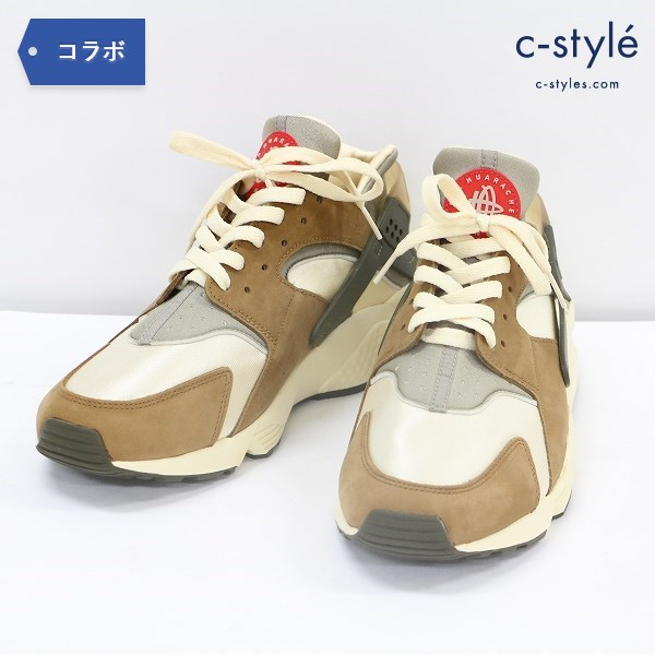 NIKE ナイキ AIR HUARACHE LE エア ハラチ STUSSY ステューシー 30cm シューズ ブラウン 靴