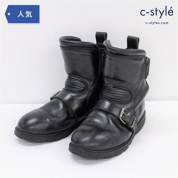 KADOYA カドヤ アンクル レザー ブーツ 26cm ライディング ベルトストラップ バイク用品