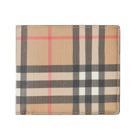 BURBERRY WALLET(バーバリー 財布) ヴィンテージチェックEキャンバス インターナショナル バイフォールドウォレット