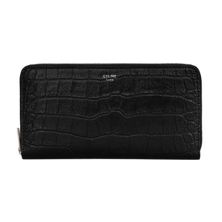 CELINE WALLET(セリーヌ) 財布 ラージ ジップウォレット / クロコダイル エンボスドカーフスキン