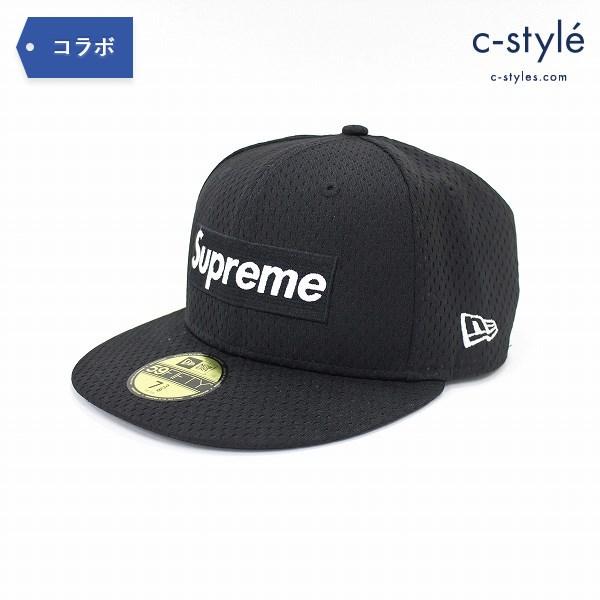 Supreme シュプリーム × NEW ERA ニューエラ メッシュ ボックスロゴ キャップ 58.7cm 7 3/8 黒