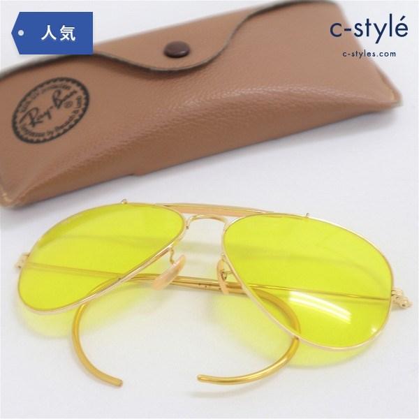 B&L Ray Ban レイバン OUTDOOR MAN サングラス イエロー イタリア製 メガネ フレーム 眼鏡