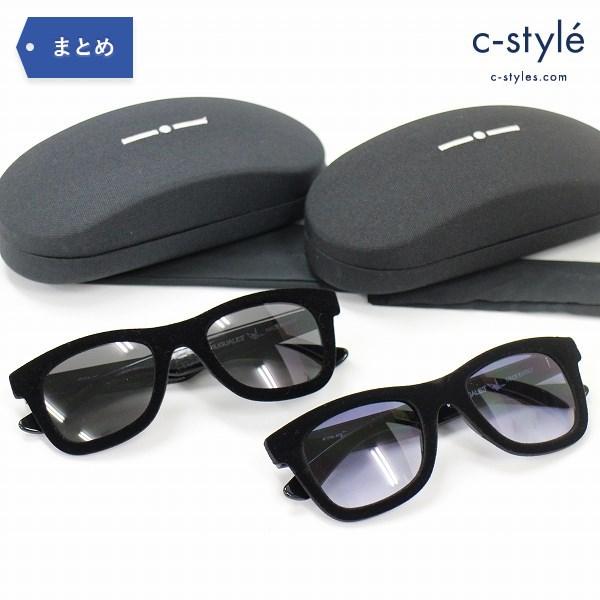 1PIU1UGUALE3 ウノピゥウノウグァーレトレ × italia independent イタリアインディペンデント サングラス ブラック 眼鏡