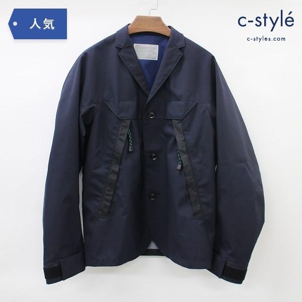 Kolor カラー 19SS ハイブリッド ジャケット size1 ネイビー ライトアウター コート 日本製