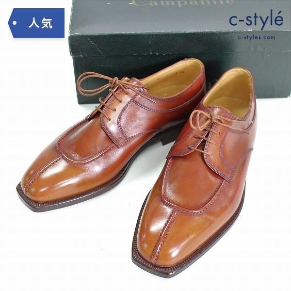 Campanile カンパニーレ Uチップ ドレスシューズ size7 レザー 革靴 ブラウン イタリア製