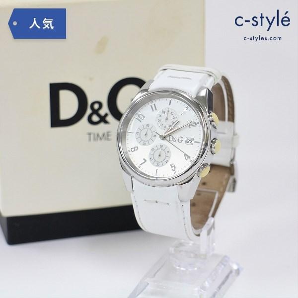 DOLCE&GABBANA ドルチェ アンド ガッバーナ D&G TIME クロノグラフ 腕時計 白文字盤 ウォッチ