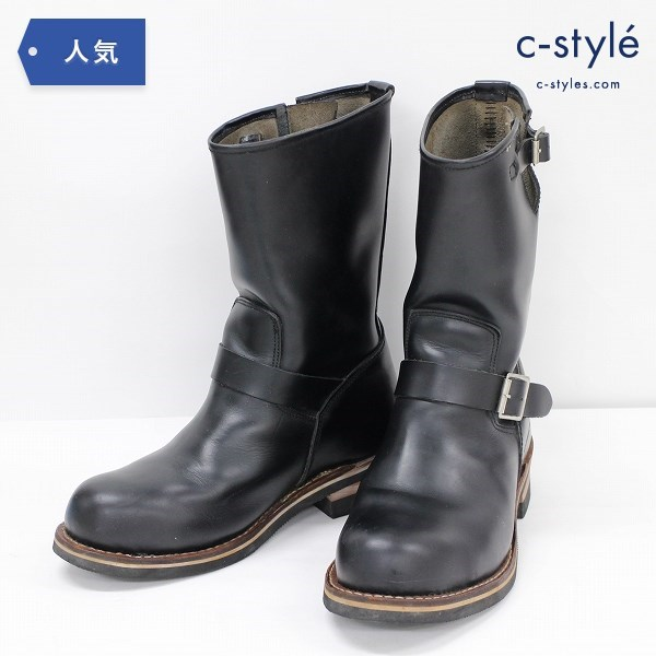 AVIREX アヴィレックス エンジニア ブーツ 26cm レザー ブラック シューズ 靴