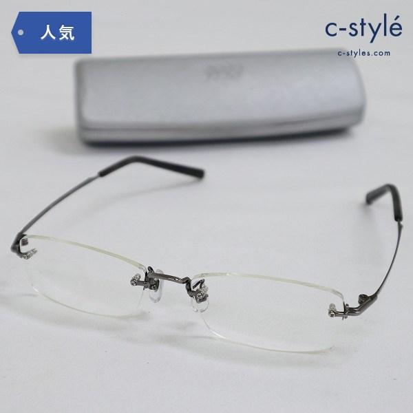 999.9 フォーナインズ 度入り眼鏡 TW-10T チタニウム ふちなし 純チタン