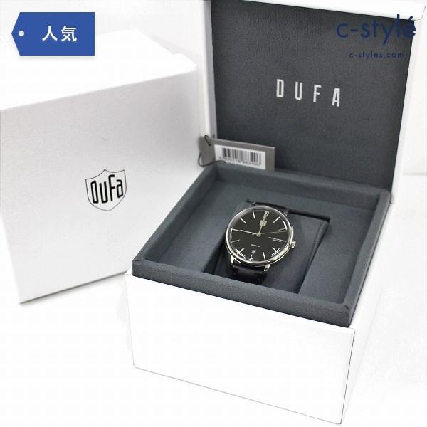 DUFA ドゥッファ DF-9011-01 腕時計 自動巻き 黒文字盤 アナログ 3針 ステンレススチール